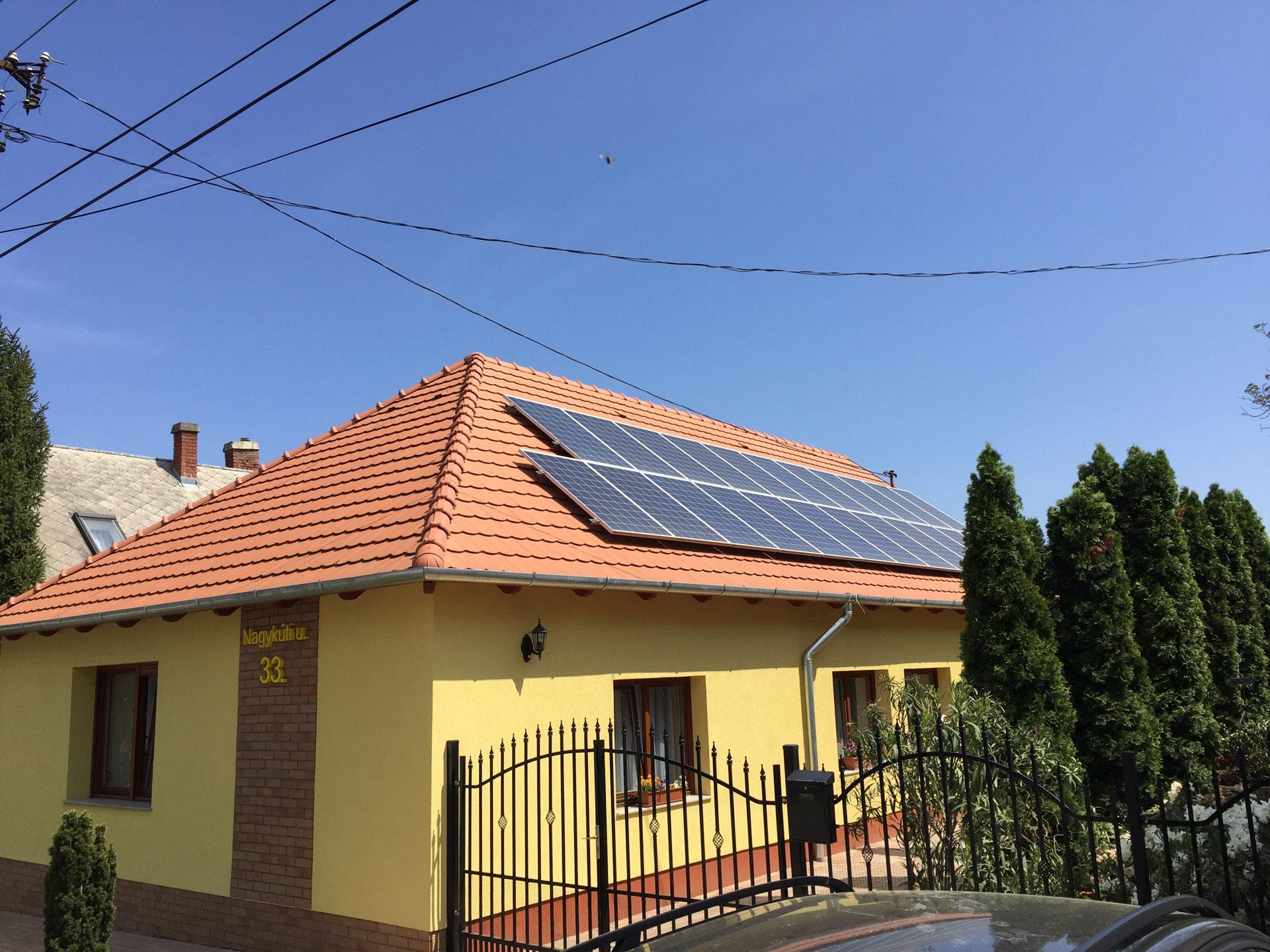 10kW napelem rendszer Balaton, Balatonkenese