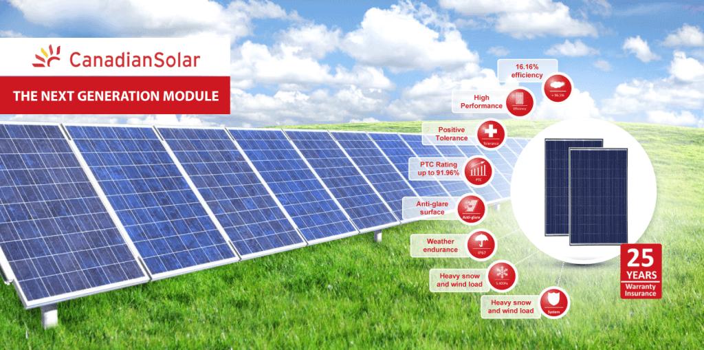Canadian Solar Quartech napelemek.