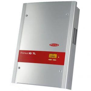 Fronius gyártmányú inverter napelemes rendszerekhez.