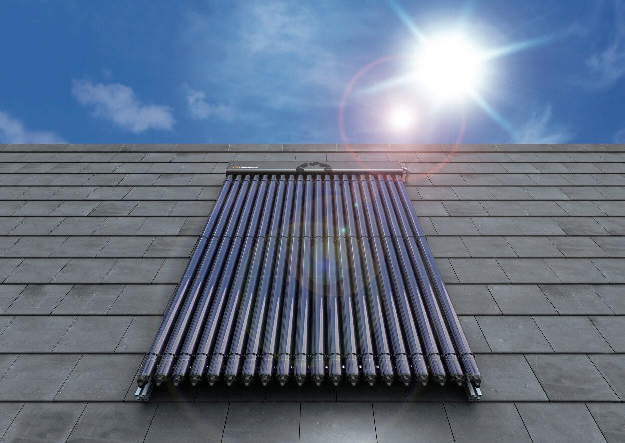 Vákuumcsöves napkollektoros rendszer.