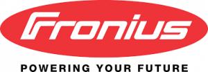 Napelemes invertereink gyártója és beszállítója, a Fronius cég logója.