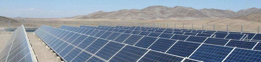 Környezetbarát napelem mező