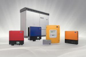 SMA gyártmányú napelemes inverterek.