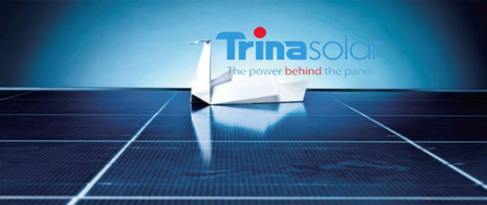 Trina Solar reklám logó.