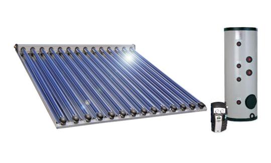 vákuumcsöves napkollektor, vákuumcsöves napkollektor rendszer